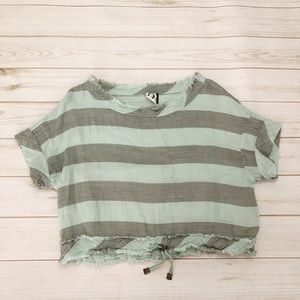 Anthropologie Akemi+Kin Breezy Striped Crop Top